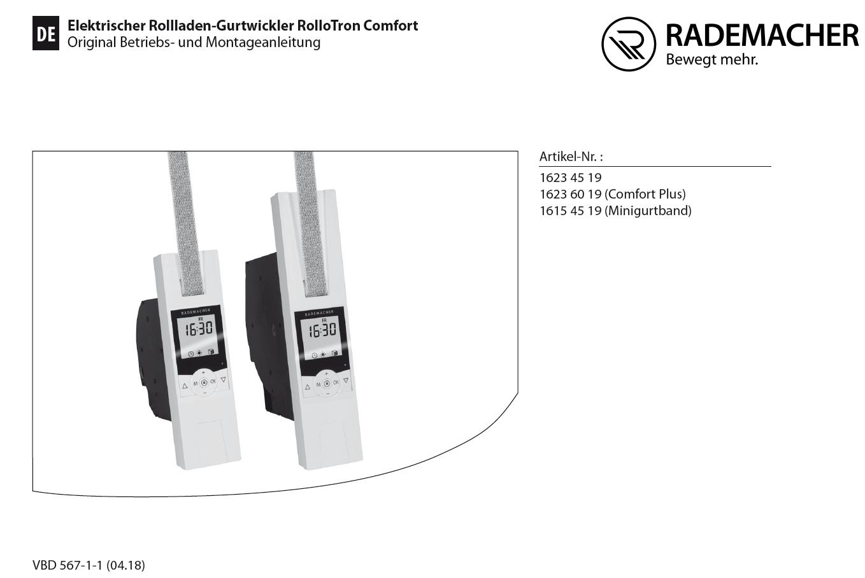 Downloads Rollotron Comfort Rademacher Service Center